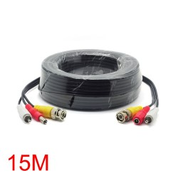 CABLE COAXIAL 15M CONEXION CAMARAS CCTV VIDEO Y AUDIO