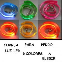 CORREA PARA PERRO LUZ LED